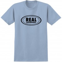 Футболка REAL SKATEBOARDS Rl S/S Ovl Outlne Pwdr Blue/Black