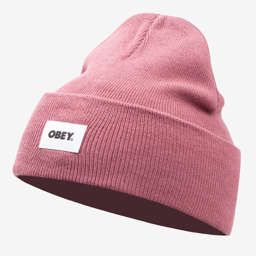 Шапка вязаная OBEY Bold Label Organic Beanie MESA ROSE 2021