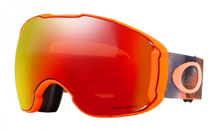Купить Маска горнолыжная OAKLEY Airbrake Xl Mystic Flow Neon Orange/Prizm Torch Iridium, Китай