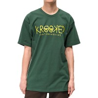 Футболка KROOKED Kr S/S Krkd Eyes Forest Green/Yellow