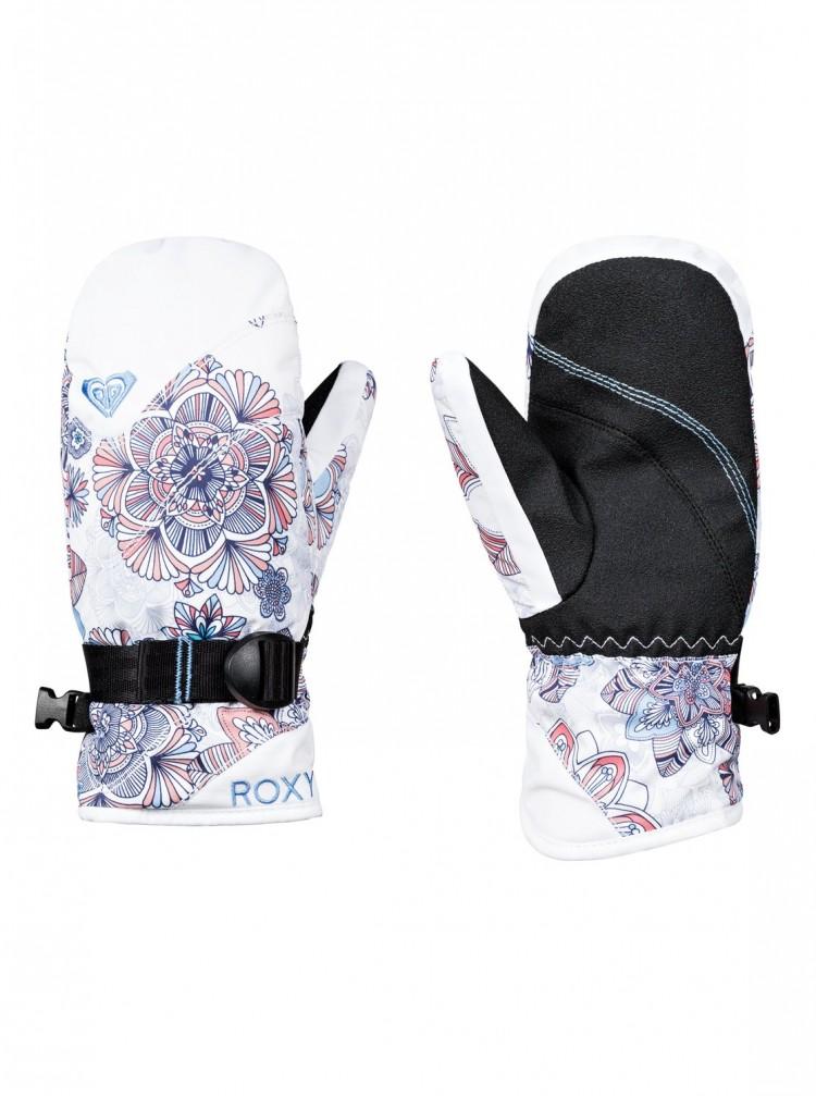 Купить Варежки ROXY Rx Jett Gir Mit G Bright White_Snowflakes, Вьетнам