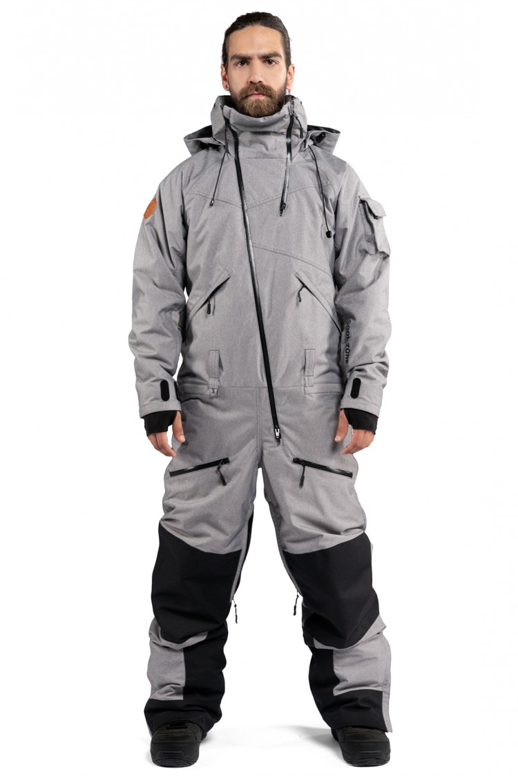 Купить Комбинезон мужской COOL ZONE Kite One Color Серый Меланж, Россия