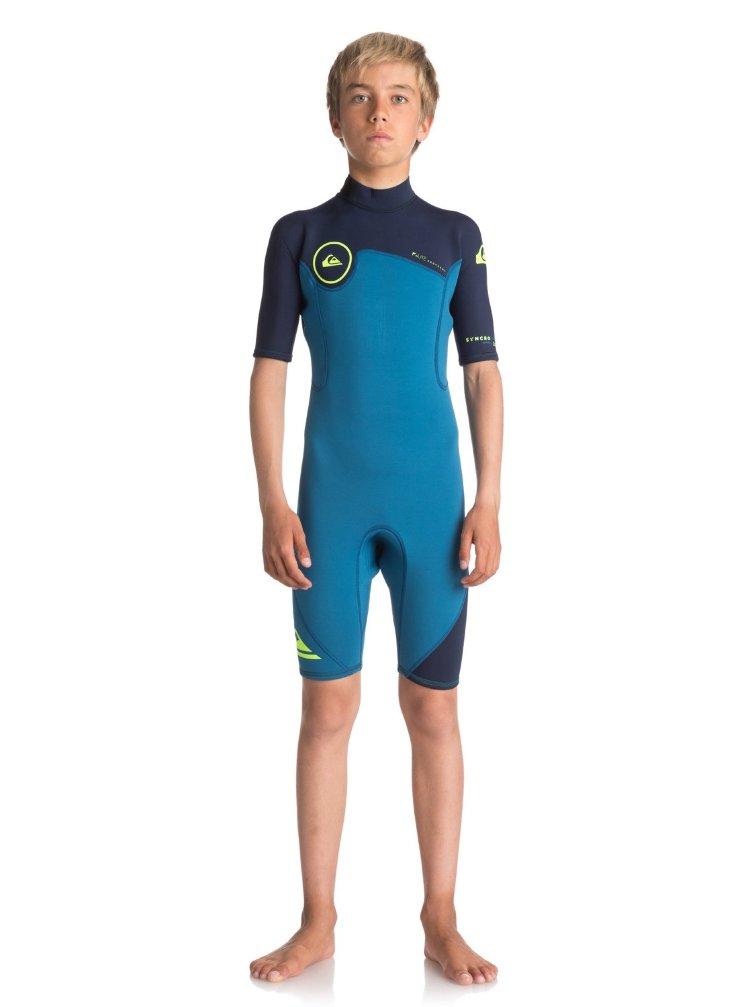 Купить Гидрокостюм для мальчиков-подростков QUIKSILVER B22 Syn Bz Ss Marina/ Blue Nights/ Safety Ye, Таиланд