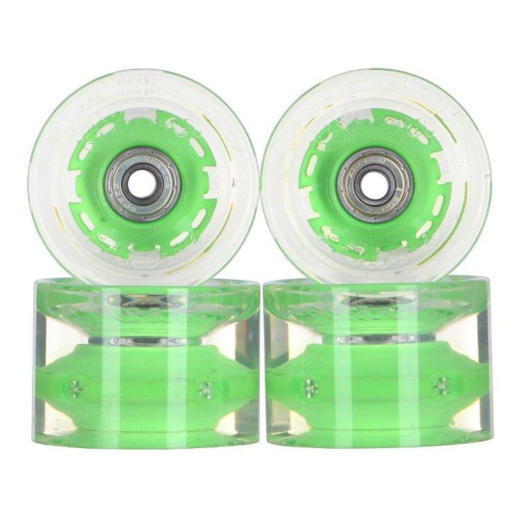 Купить Колеса для лонгборда SUNSET SKATEBOARDS Conical Longboard Wheel Set With Abec9 SS Green 65 mm, Китай