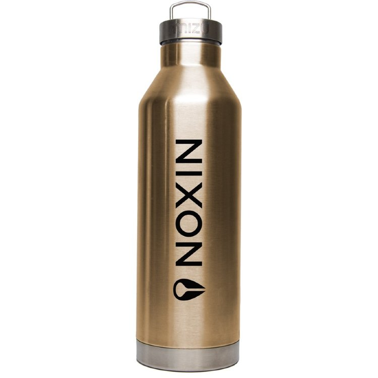 Купить Термобутылка для воды MIZU NIXON V8 LOCK UP Glossy Rose Gold W/ Black Print