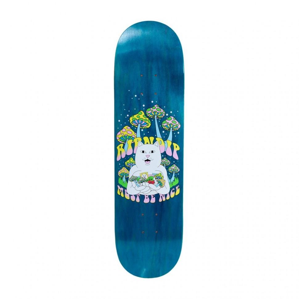 Дека для скейтборда RIPNDIP Trippy Treatz Board Blue 8.5 дюймов 2021