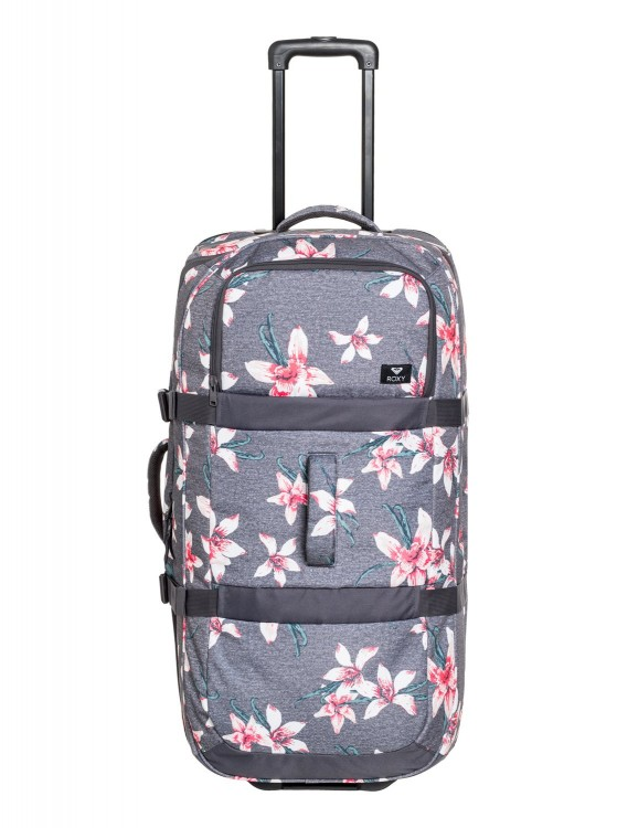 Чемодан ROXY Long Haul 2 J Charcoal Heather Flower Field, фото 2