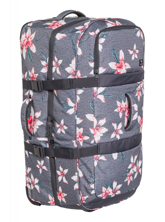 Чемодан ROXY Long Haul 2 J Charcoal Heather Flower Field, фото 3