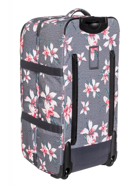 Чемодан ROXY Long Haul 2 J Charcoal Heather Flower Field, фото 4