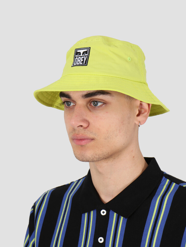 Панама OBEY Icon Eyes Bucket Hat Key Lime 2020 фото