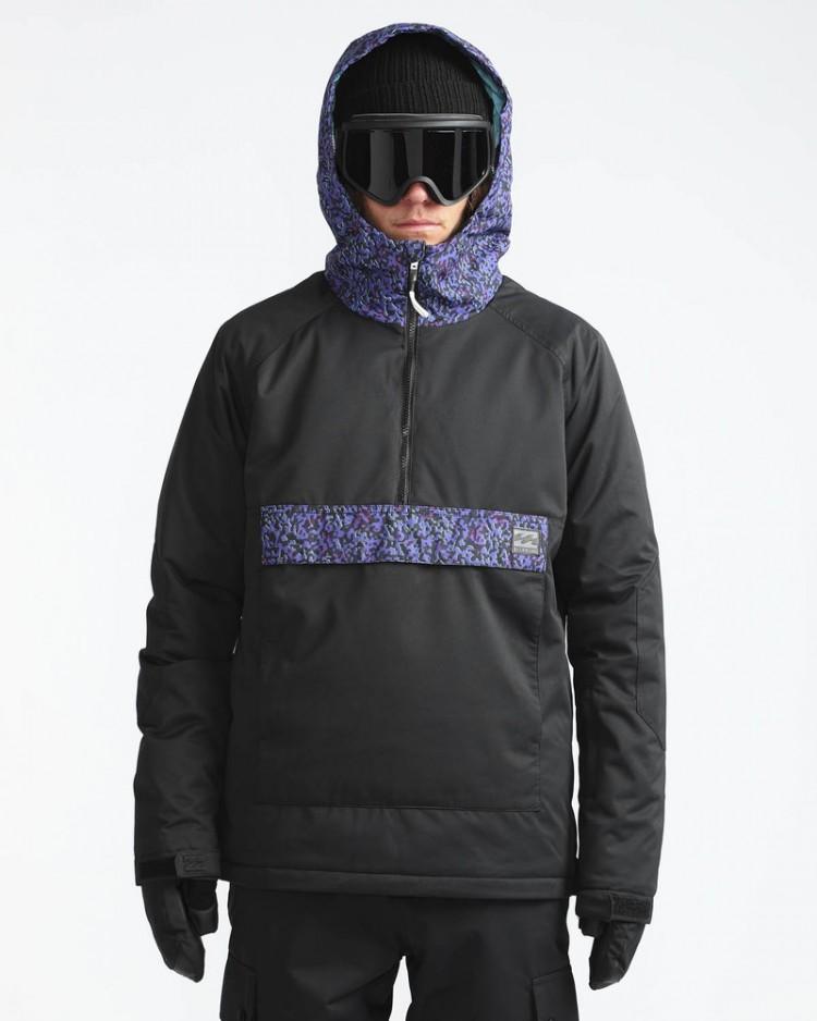 Купить Куртка-анорак для сноуборда мужская BILLABONG Stalefish Anorak Black Caviar, Китай