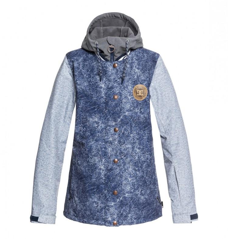 Куртка для сноуборда женская DC SHOES Dcla Women Jkt J Dark Blue Acid Wash  Denim A d0f95a20393