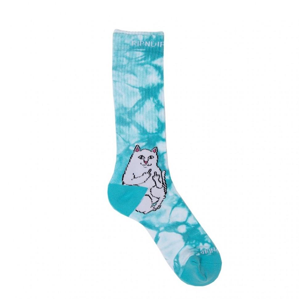 Носки RIPNDIP Lord Nermal Socks Baby Blue Tie Dye