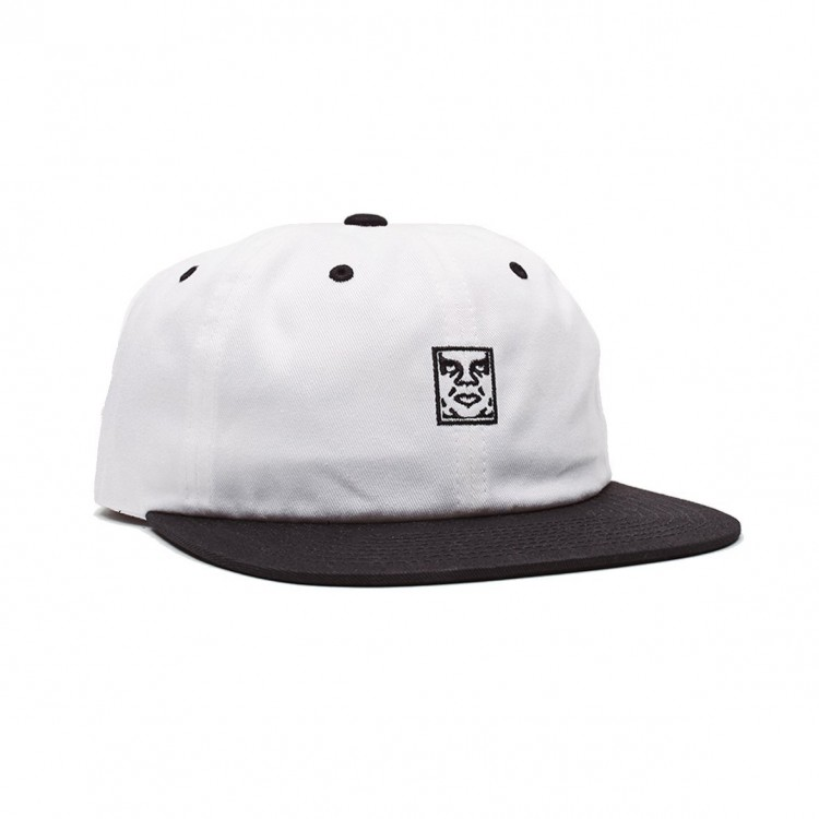 Шестипанельная кепка OBEY Icon 6 Panel Strapback White Multi 2020, фото 1