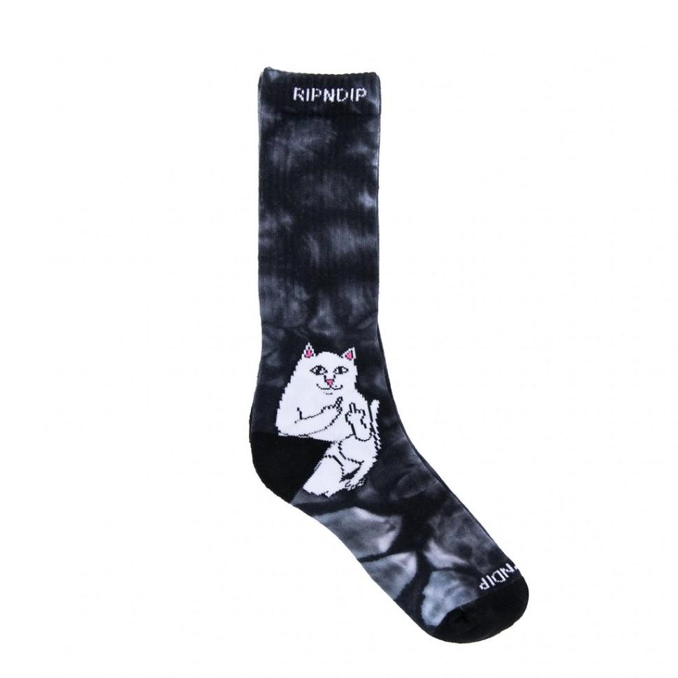 Носки RIPNDIP  Lord Nermal Socks Black Tie Dye