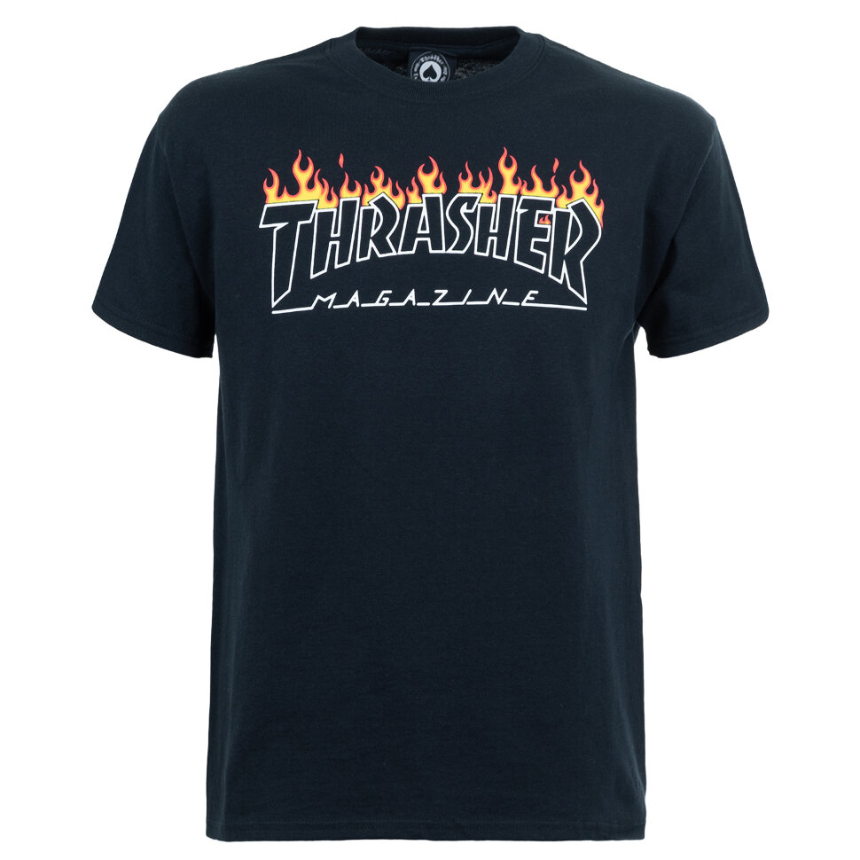 Футболка THRASHER Scorched Outline S/S Black 2020 фото