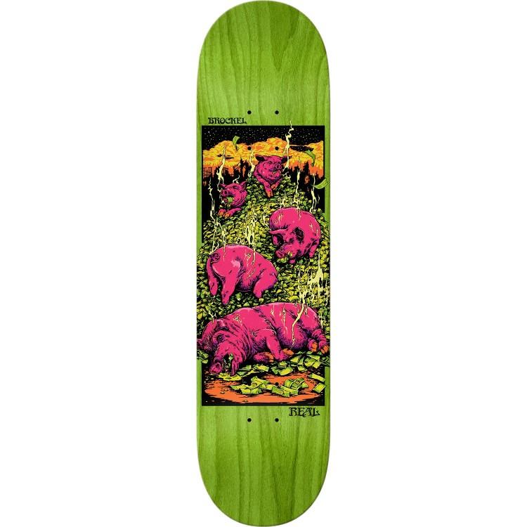 Купить Дека Скейтборд REAL SKATEBOARDS Brd Brockel Pig Zen, Мексика