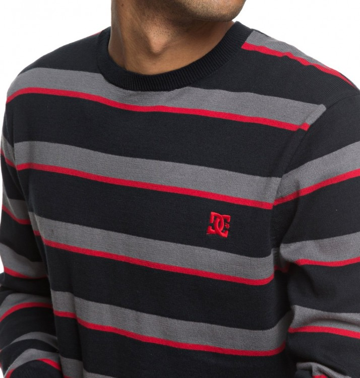 Джемпер DC SHOES Sabotage Stripe M Black, фото 3