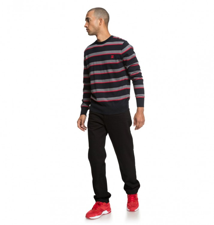 Джемпер DC SHOES Sabotage Stripe M Black, фото 4