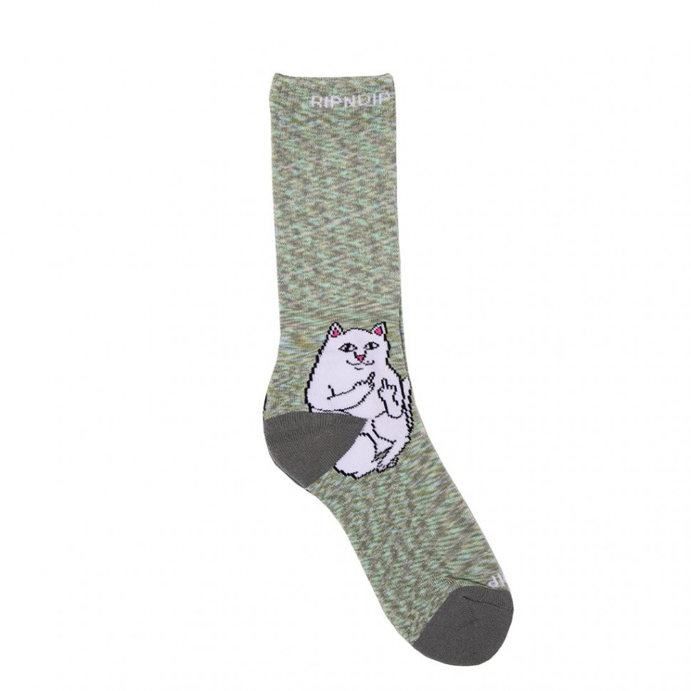 Носки RIPNDIP Lord Nermal Socks Grey Speckle фото