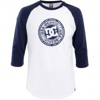 Футболка DC SHOES Research 3/4 Ra M Tees Black Iris/ Snow White