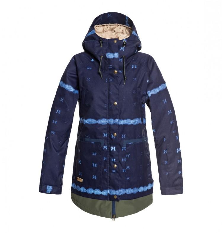 Купить Куртка для сноуборда женская DC SHOES Riji Jkt J Dark Blue Mud Cloth B, Китай
