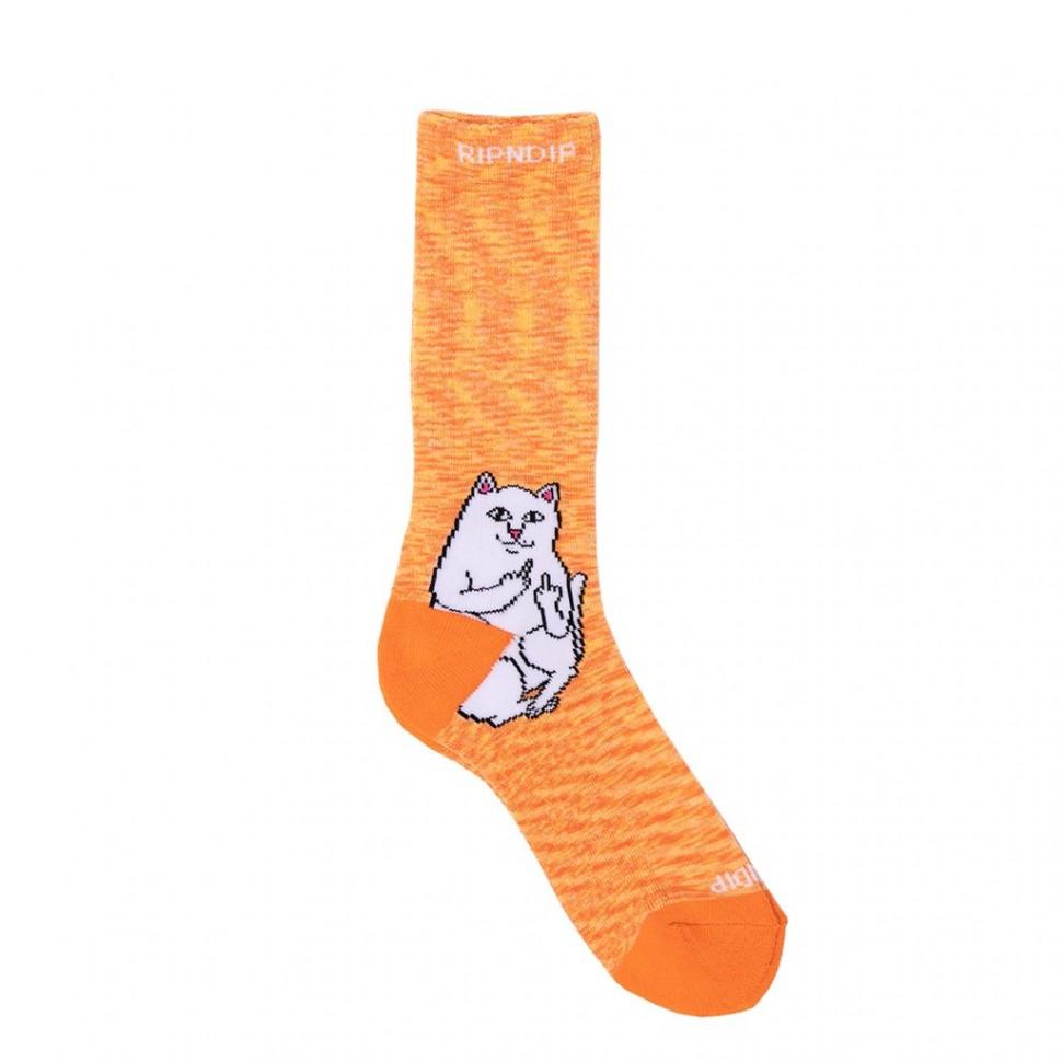 Носки RIPNDIP Lord Nermal Socks Orange Speckle фото