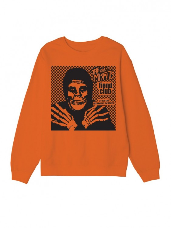 Свитшот OBEYxMISFITS Fiend Club Halloween Orange, фото 4