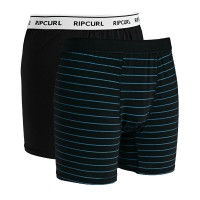 Комплект трусов RIP CURL Stripy & Solid Boxer Black