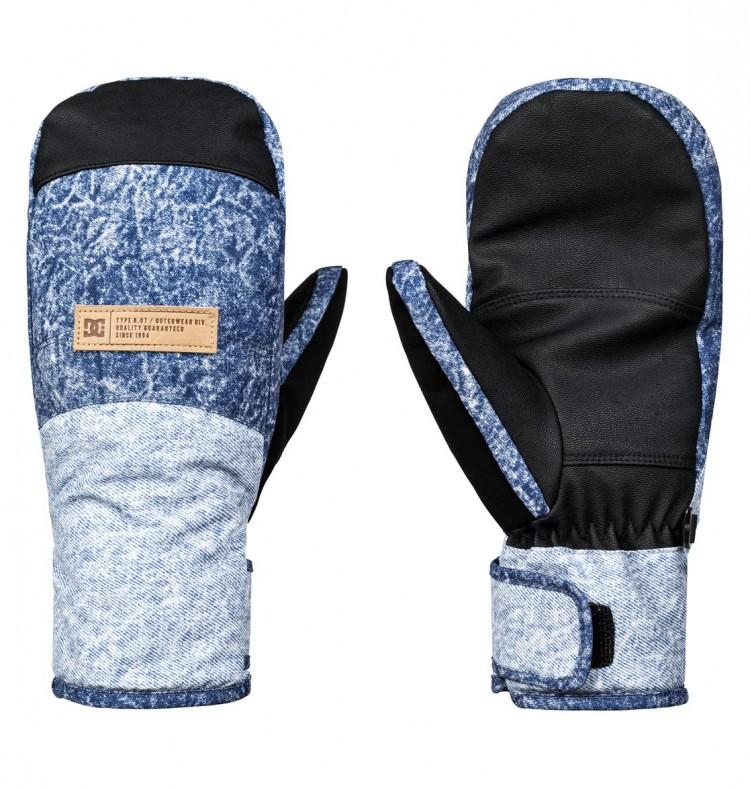 Купить Варежки сноубордические DC SHOES Franchise Women J Dark Blue Acid Wash Denim A, Китай