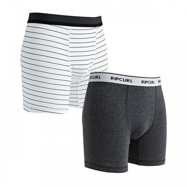Комплект трусов RIP CURL Stripy & Solid Boxer Grey, фото 1