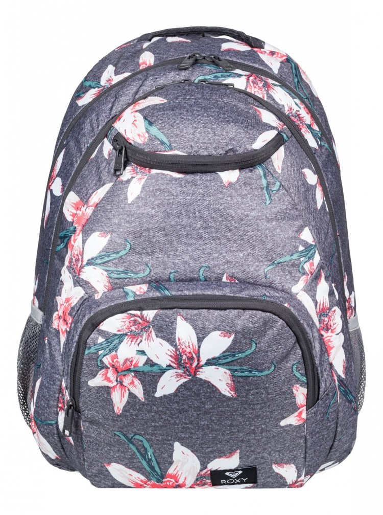 Купить Рюкзак ROXY Shadow Swell J Charcoal Heather Flower Field, Мьянма