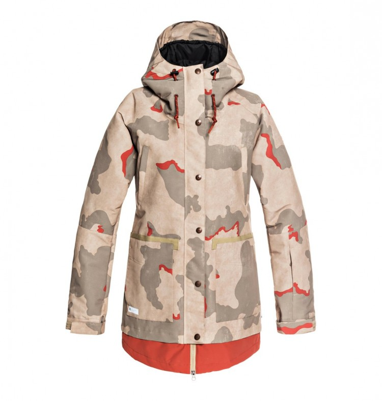 Купить Куртка для сноуборда женская DC SHOES Riji Jkt J Hot Sauce Dcu Camo Wms, Китай