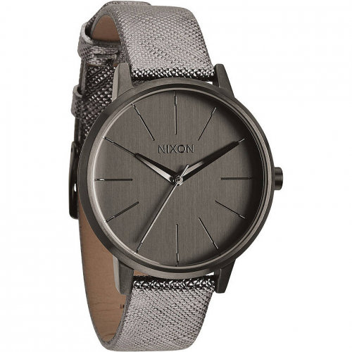 Купить Часы NIXON Kensington Leather A/S Gunmetal Shimmer, Китай