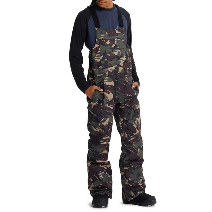 Штаны для сноуборда BURTON Mb Gore-Tex Reserve Bib Pant Seersucker Camo, Вьетнам  - купить со скидкой