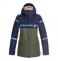 Куртка сноубордическая DC SHOES Cruiser Jkt J Dark Blue Mud Cloth B