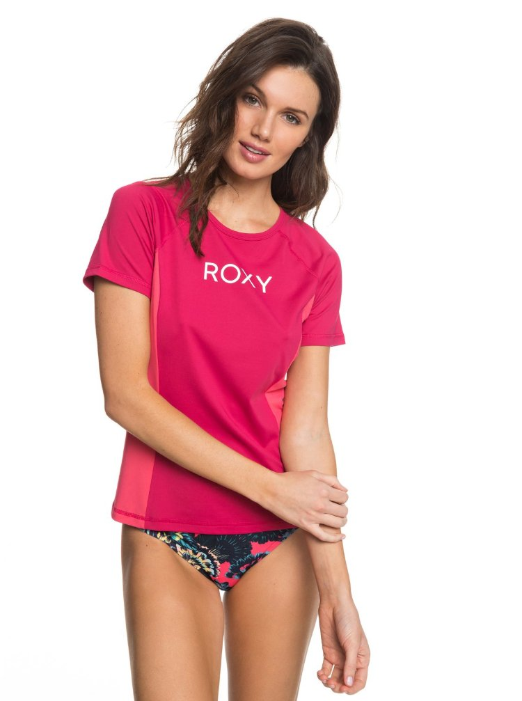 Купить Гидрофутболка женская ROXY Onmyboard Ss Co J Vivacious, Вьетнам