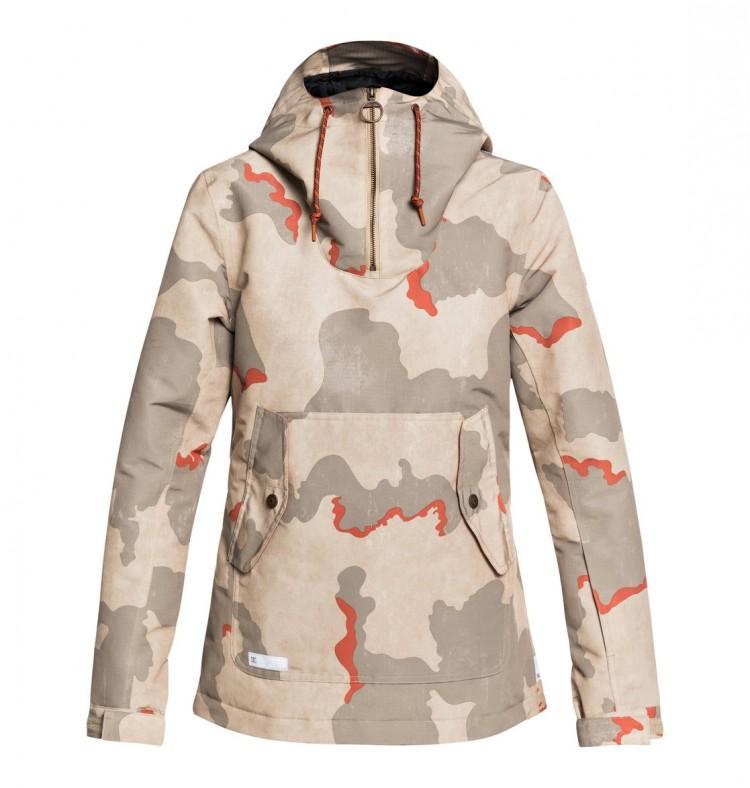 Купить Куртка-анорак для сноуборда женская DC SHOES Skyline Jkt J Hot Sauce Dcu Camo Wms, Китай