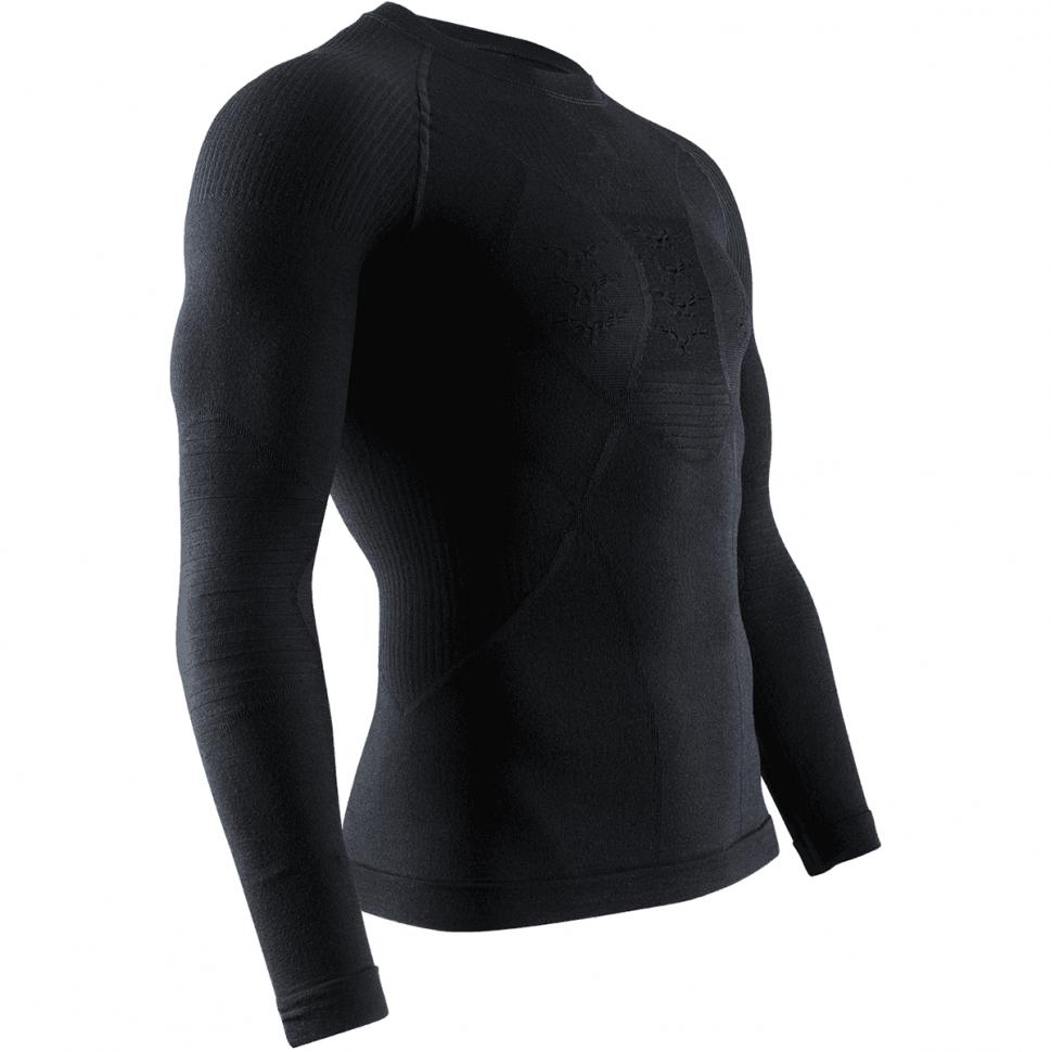 Термокофта мужская X-BIONIC Apani® 4.0 Merino Shirt Round Neck Lg Sl Men Black/Black 2020 фото