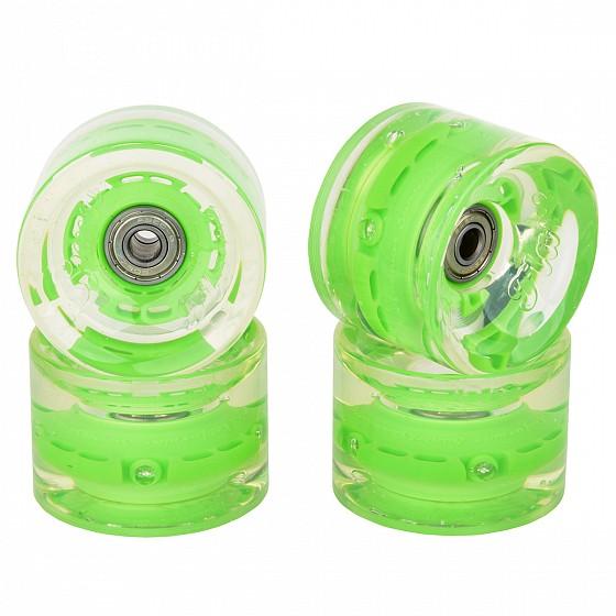 Купить Колеса для лонгборда SUNSET SKATEBOARDS Long Board Wheel With Abec9 SS Green 65 mm, Китай