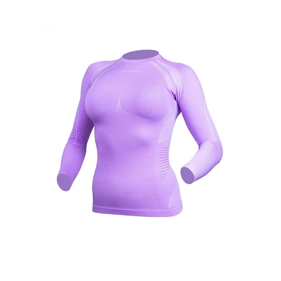 Термокофта женская ACCAPI Polar Bear Seamless Long Sl.T-Shirt Lady Lilac/White