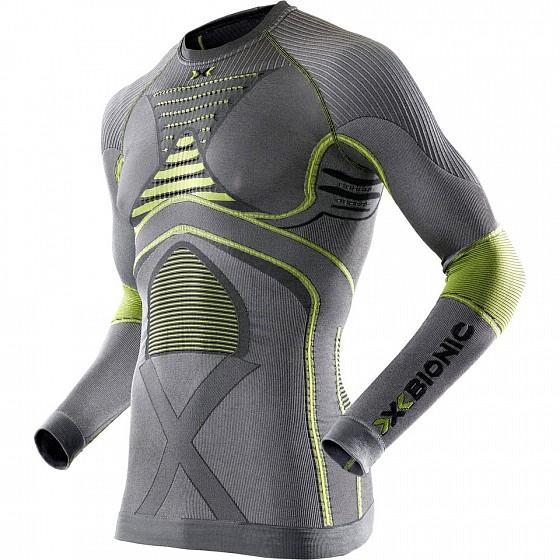 Купить Термофутболка мужская X-BIONIC Man Radiactor Evo Uw Shirt Long Sleeve Iron/Yellow, Италия