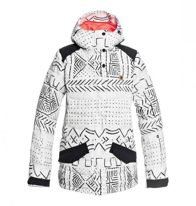 Купить Куртка для сноуборда женская DC SHOES Liberty Jkt J Silver Birch Mud Cloth A, Китай