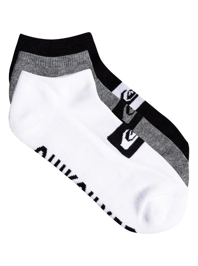 Купить Носки для мальчиков-подростков упаковка из 3 пар QUIKSILVER 3Anklepackyouth B Assorted, Китай