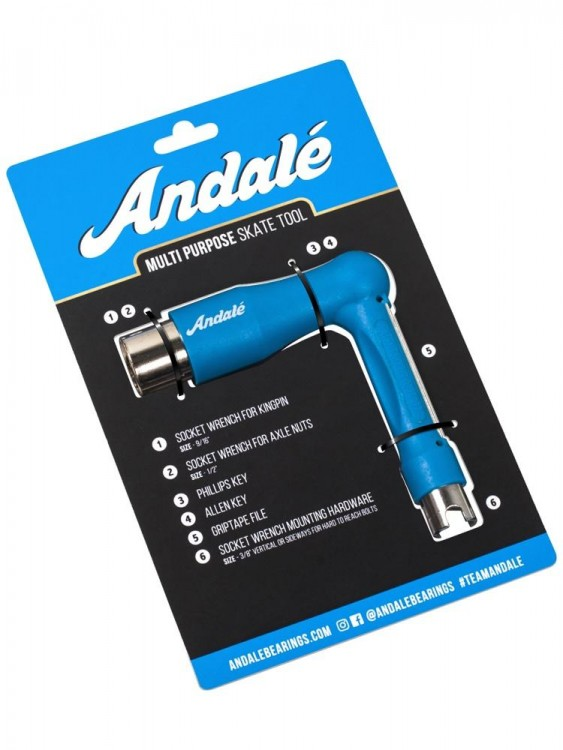 Ключ для скейтборда ANDALE All Purpose Tool Blue  2020, фото 1