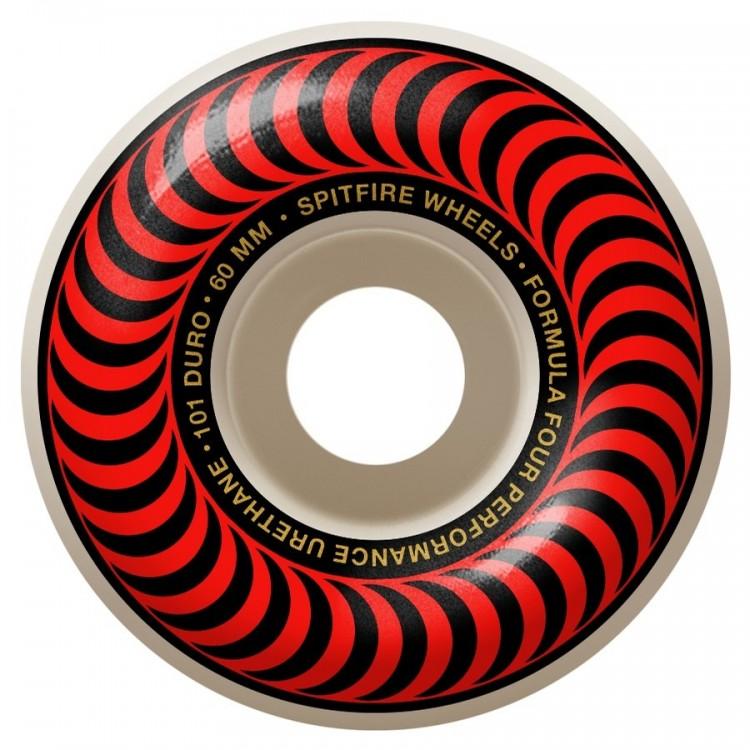 Купить Колеса для скейтборда SPITFIRE F4 Classic Red/Bronze, Сша