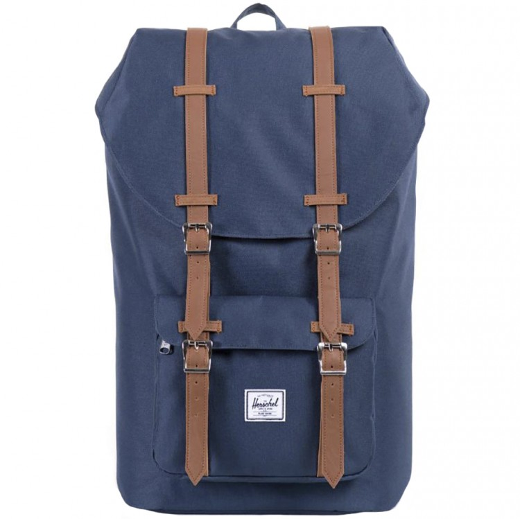 Рюкзак HERSCHEL Herschel Little America Navy/Tan Synthetic Leather , фото 2