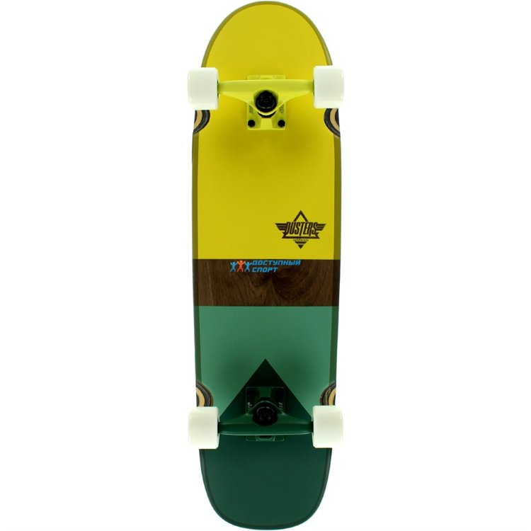 Купить Лонгборд DUSTERS Grind Frames Cruiser Kryptonic White/Green, Сша