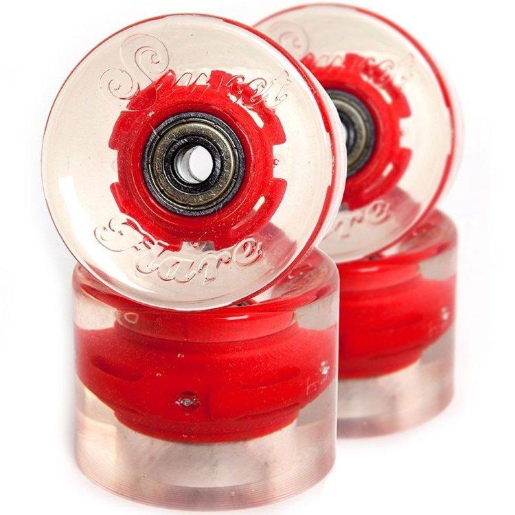 Купить Колеса для лонгборда SUNSET SKATEBOARDS Long Board Wheel With Abec9 SS Red 65 mm, Китай