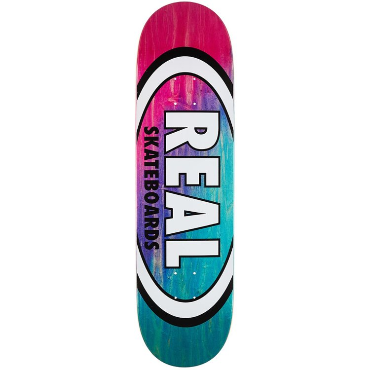 Купить Дека скейтборд REAL SKATEBOARDS Brd Angl Dip Ovl Rd/Lbl Assorted, Мексика